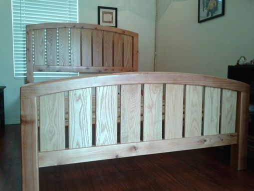 Custom Made Custom Queen Size Redwood Bed