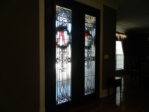 Custom Made Leaded Glass Door Panels