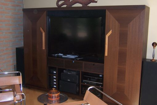 Custom Made Wenge Entertainment Center