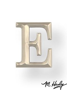 Custom Made Nickel Monogram Letter E