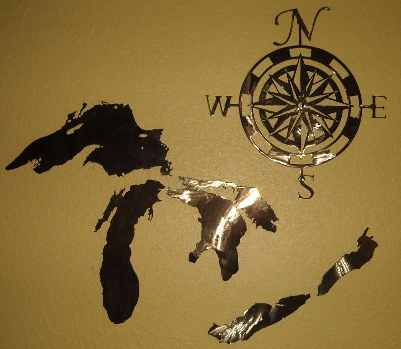 Custom made great lakes metal wall art collection by for Great wall art ideas