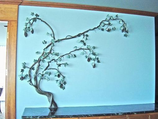 Custom Made Grape Vine, Fabricated Metal Sculpture