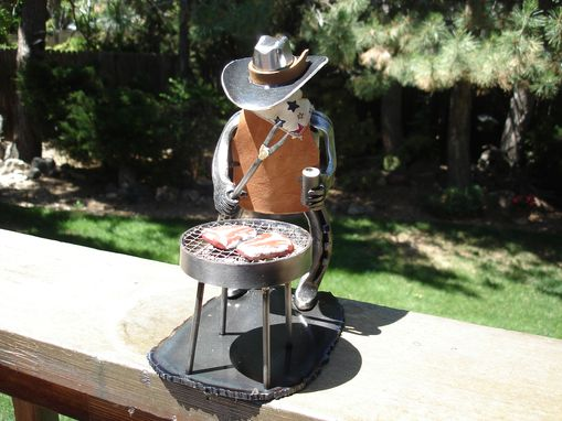 Custom Made Cowboy Sculpture Griller