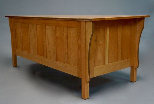 Custom Made Cherry-Mission Style Executive Desk