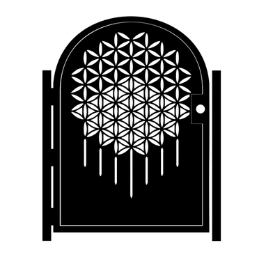Custom Made Steel Flower Of Life Gate - Geometric Metal Art - Sacred Geometry - Garden Gate - Handmade