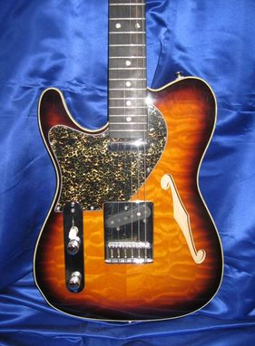 "Custom Made Left Handed Thinline Custom ""Tele"" Quilt Top"