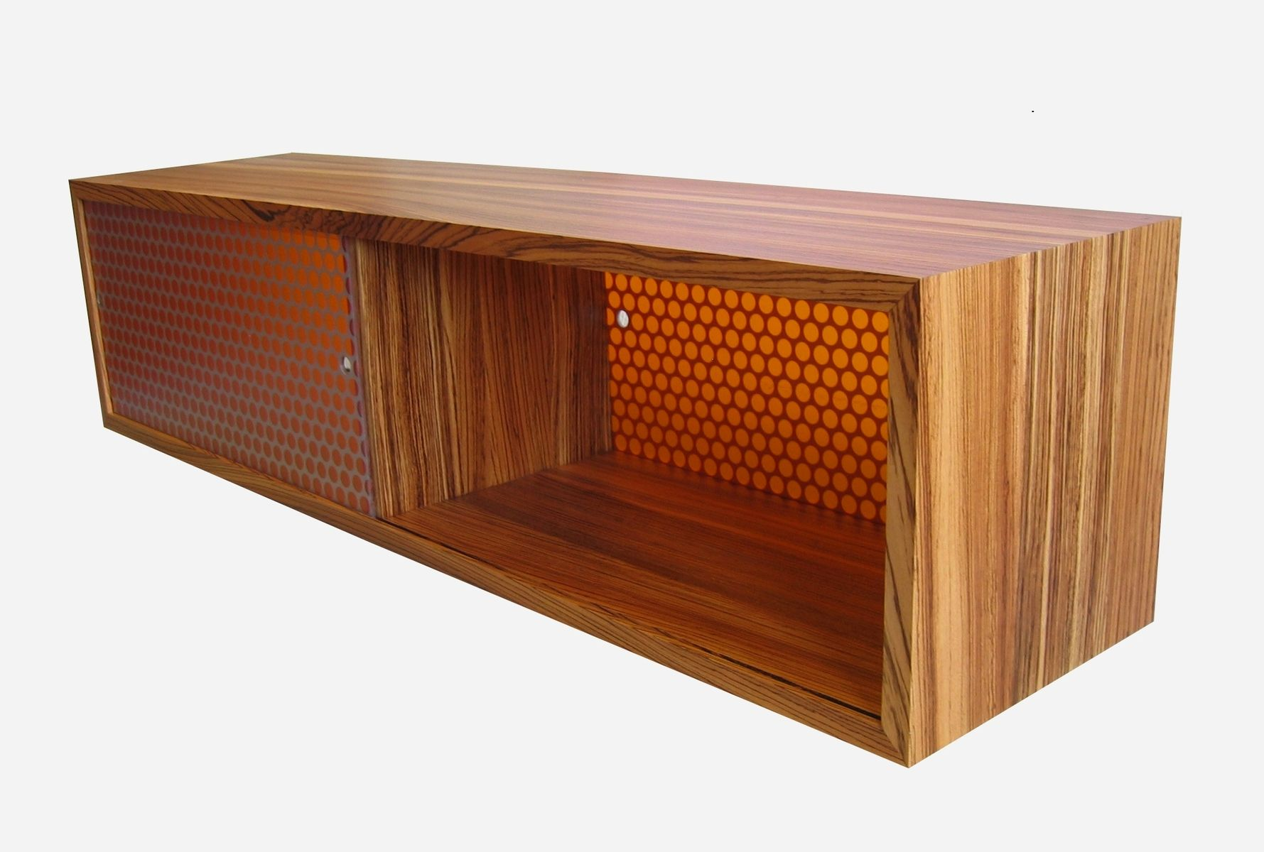 Custom Made Zebrawood Storage Bench