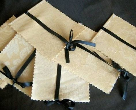 Custom Made 100 Beautiful Fabric Cover 4 Page Wedding Programs, Ribbon Accent Customized To Your Colors