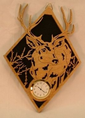 Custom Made Deer Wall Clock