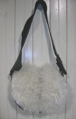 Custom Made Wooly Leather Shoulder Purse