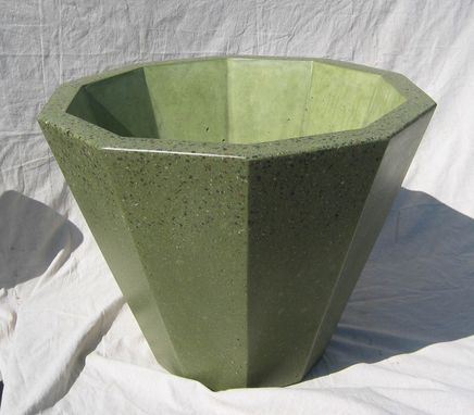 Custom Made 10 Sided Conical Polished Concrete Planter