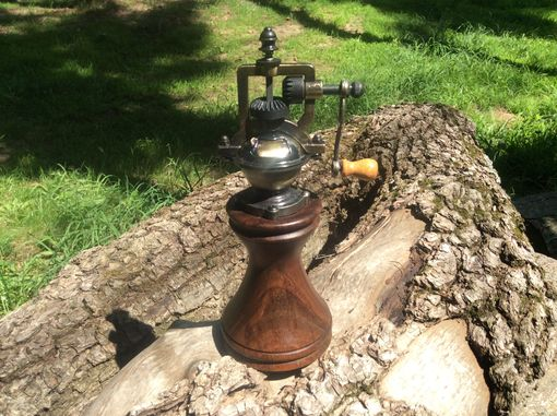 Custom Made Antique Style Peppermill With Walnut Body