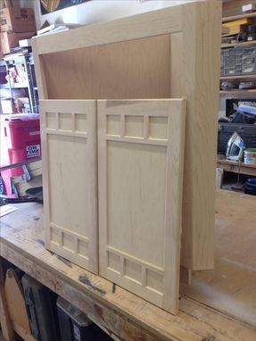 Custom Made Maple Corner Cabinet
