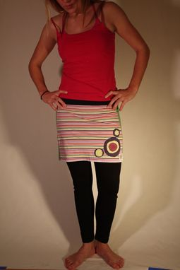 Custom Made Candy Striper Bubble Mini Skirt -Size Small (4)
