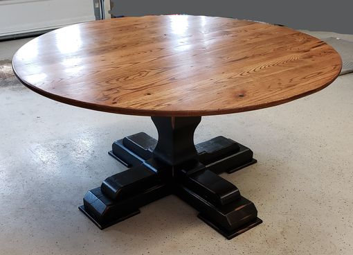 Custom Made Round Reclaimed Wood Table