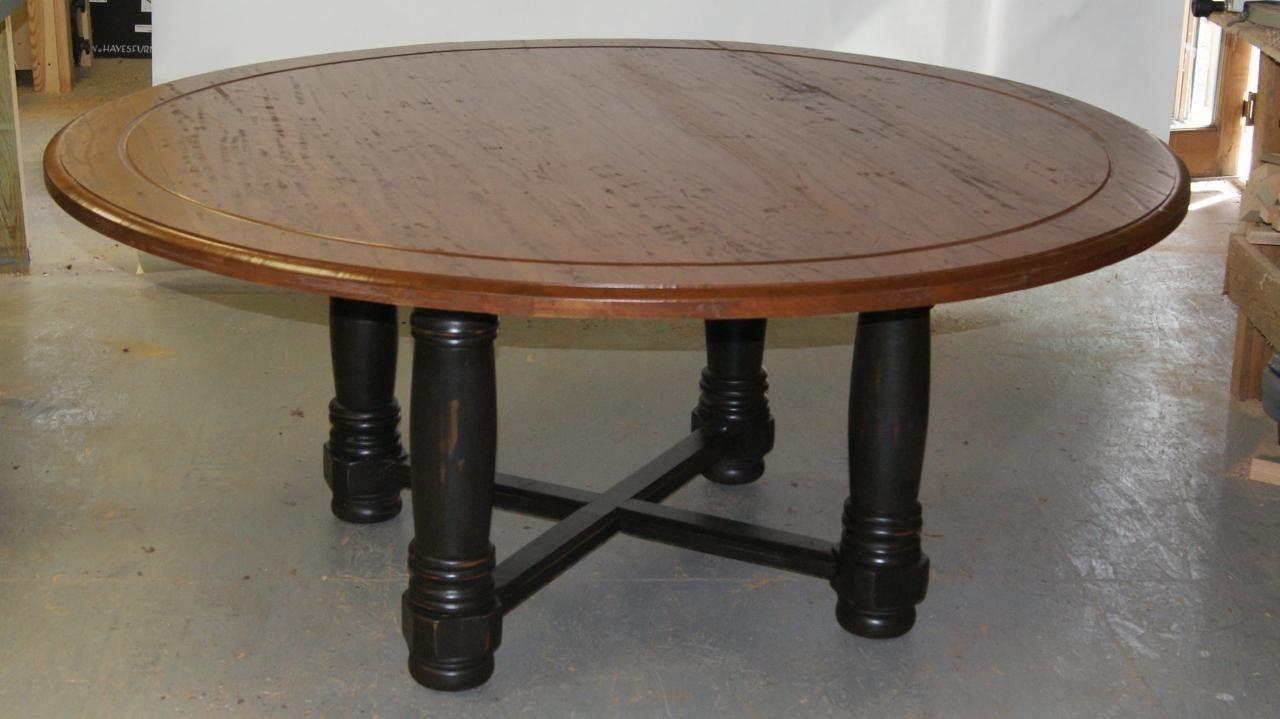 Custom made 72 round table