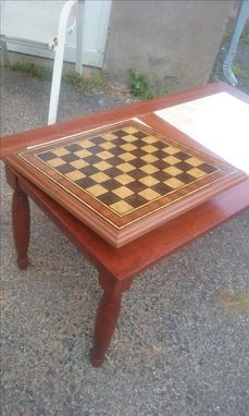 Custom Made Burlwood Veneer Chessboard