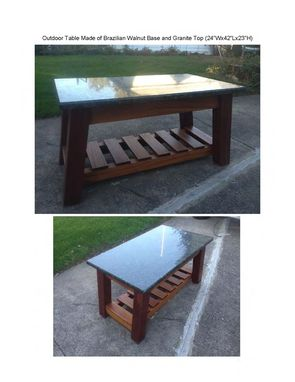 Custom Made Outdoor Table