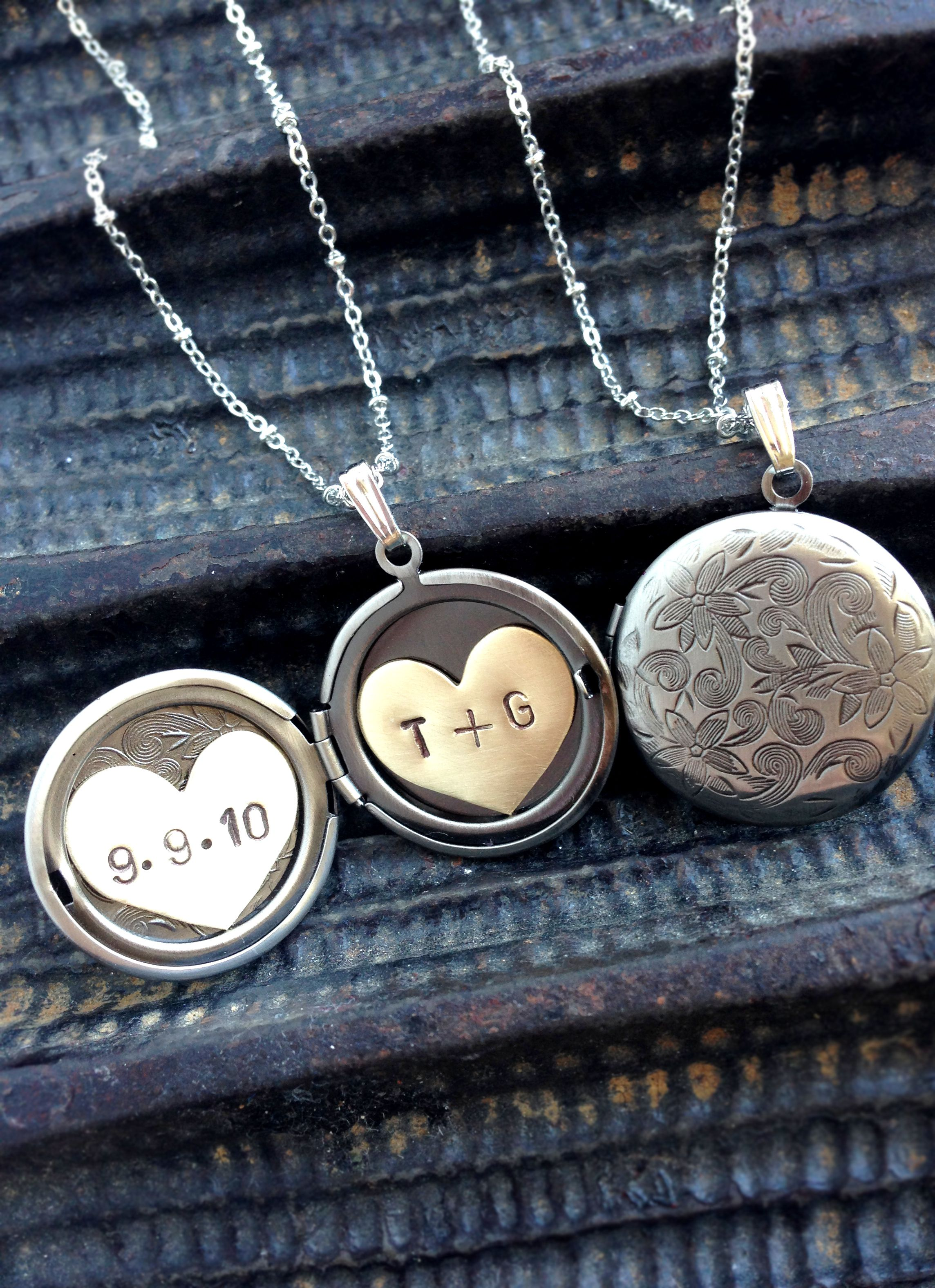everyday and necklace lockets half pin sterling wear silver great moon layering for