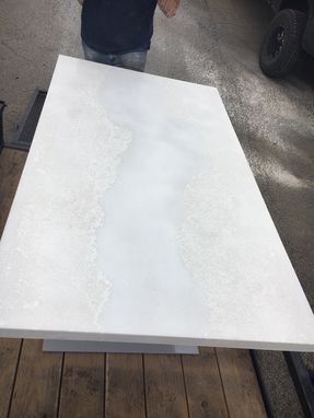 Custom Made Concrete Table,Dining Table,Modern,Chic,White,