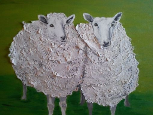 Custom Made Double Sheep In Doilies