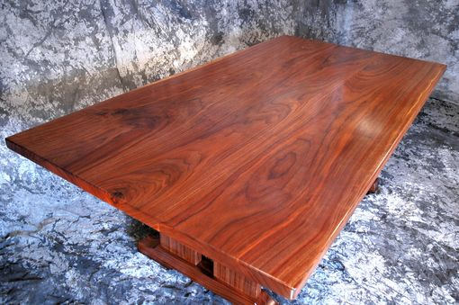 Custom Made Figured Walnut Dining Set....For Sale