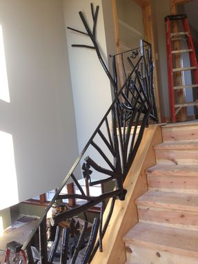 Custom Made Tree Branch Metal Railing