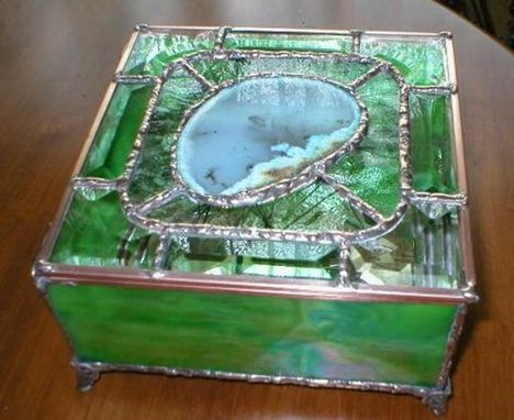 Custom Made Celtic Glass Box