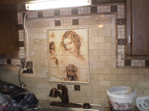 Custom Made Ceramic Or Marble Kitchen Tile Mural