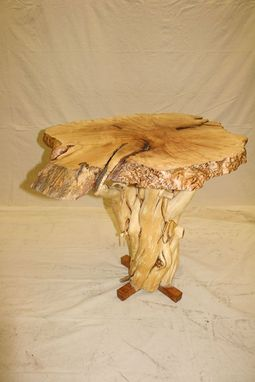 Custom Made The Hiroshima Table- Birds Eye Maple