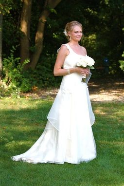 Custom Made Ivory Silk Wedding Dress