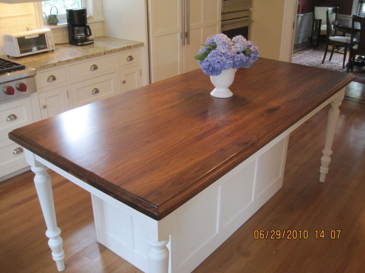 Hand Made Walnut Island Top By Craft Art Direct