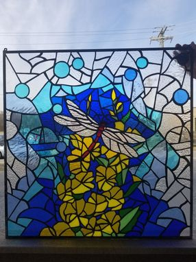 Hand Made P 222 Stained Glass Hanging Panel By Terraza