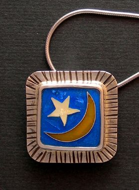 Custom Made Moon And Star Pendant