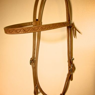Custom Made Handmade Horse Bridle, Headstall