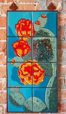 "Custom Made 12""X24"" Hand Glazed Tile Murals"