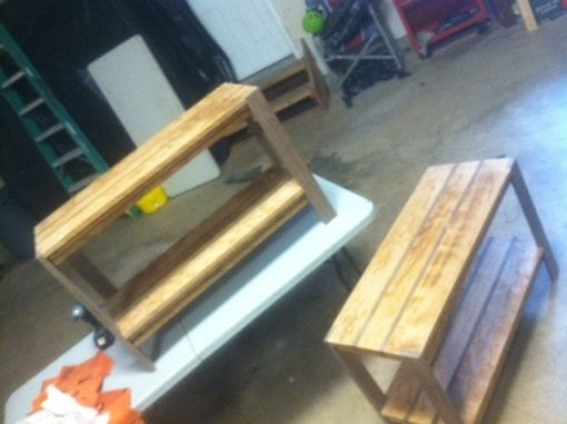 Custom Made Walnut And Cherry End Tables