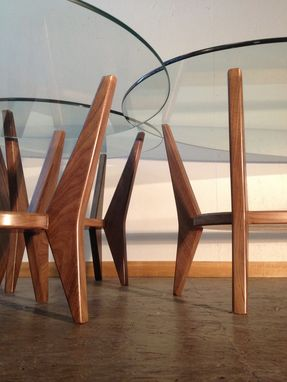 Custom Made Walnut Mid Century Inspired Tables