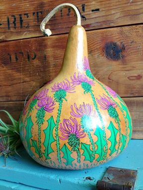 Custom Made Hand Illustrated Gourd