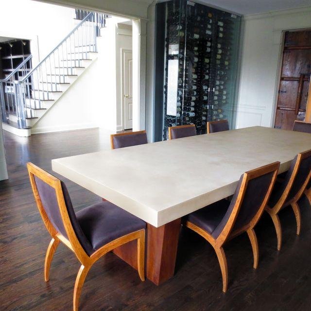 Custom Concrete Dining Room Table By Trueform Concrete CustomMadecom - Concrete dining table and chairs