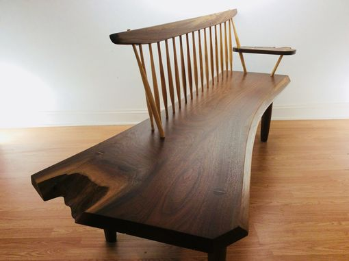 Custom Made George Nakashima Style Conoid Bench