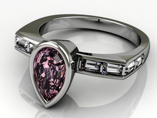 Custom Made Pink Sapphire And Diamond Ring