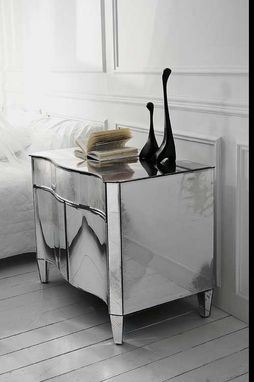 Custom Made Custom Glass Furniture/Mirrors At Private Apartment In Ny@