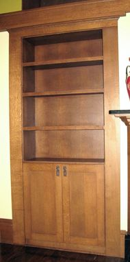 Custom Made Quartersawn White Oak Built-In Hutch