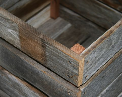 Custom Made Milk Crate Made From Barn Wood 20x20x20