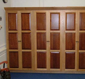 Custom Made Vestment Cabinets