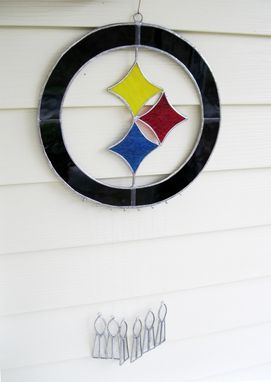 Custom Made Steelers Custom Stained Glass Sun Catcher- With 6 Super Bowl Trophies +1 To Add This Year-