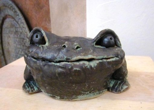 Custom Made Sculpted Ceramic Toads