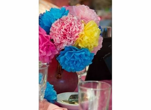 Custom Made Tissue Paper Flowers For Fiesta Parties!