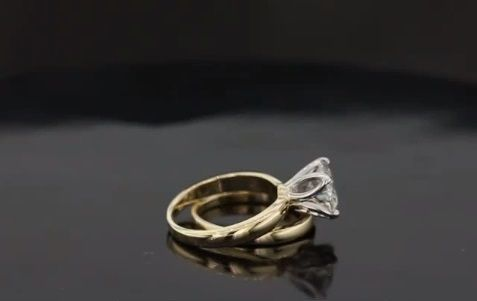 Custom Made Our Tulip Solitaire With Matching Band